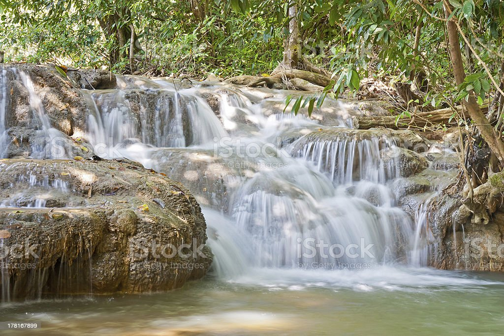 Waterfall in Thailand Asia royalty-free stock photo