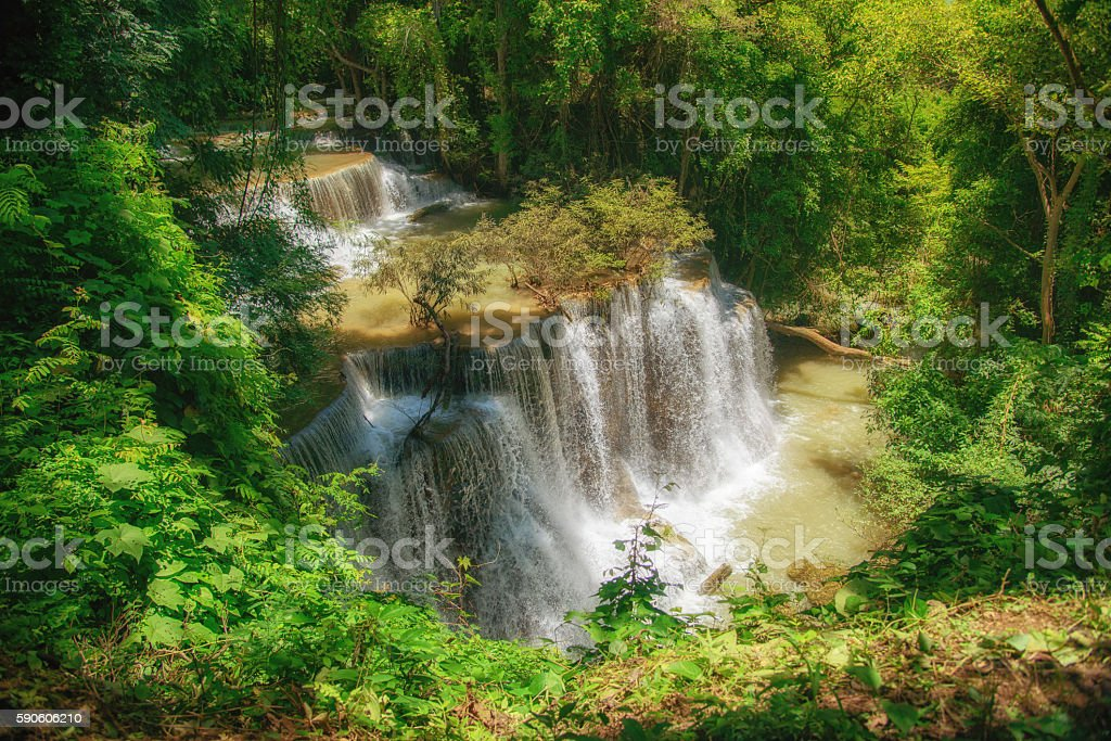 Waterfall in Thailand royalty-free stock photo