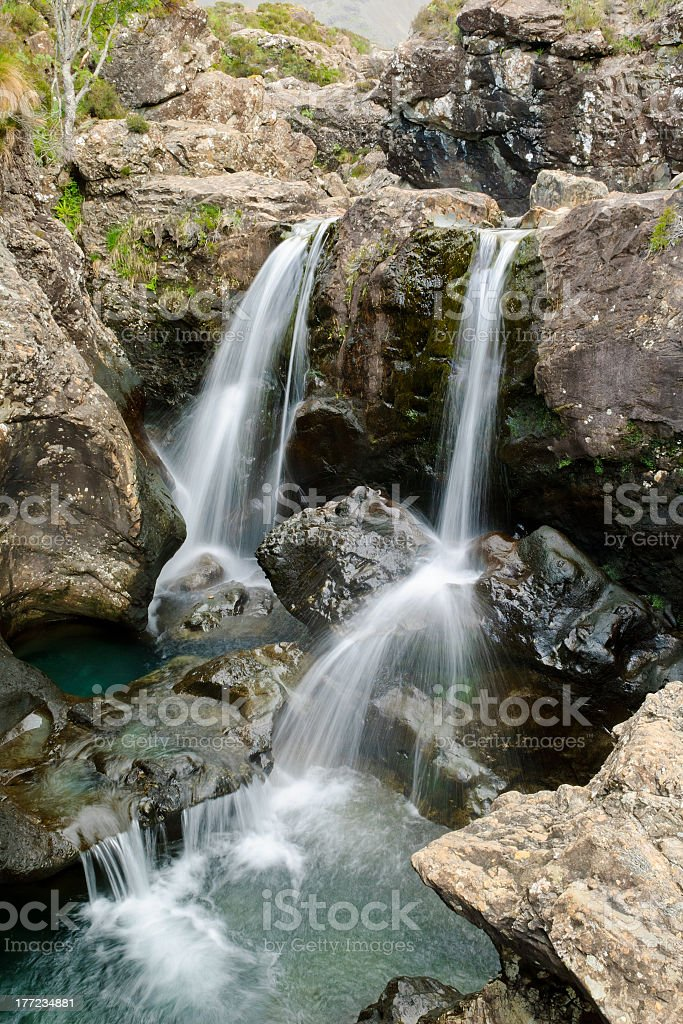 Waterfall in the Black Cuillins, Skye, Scotland stock photo