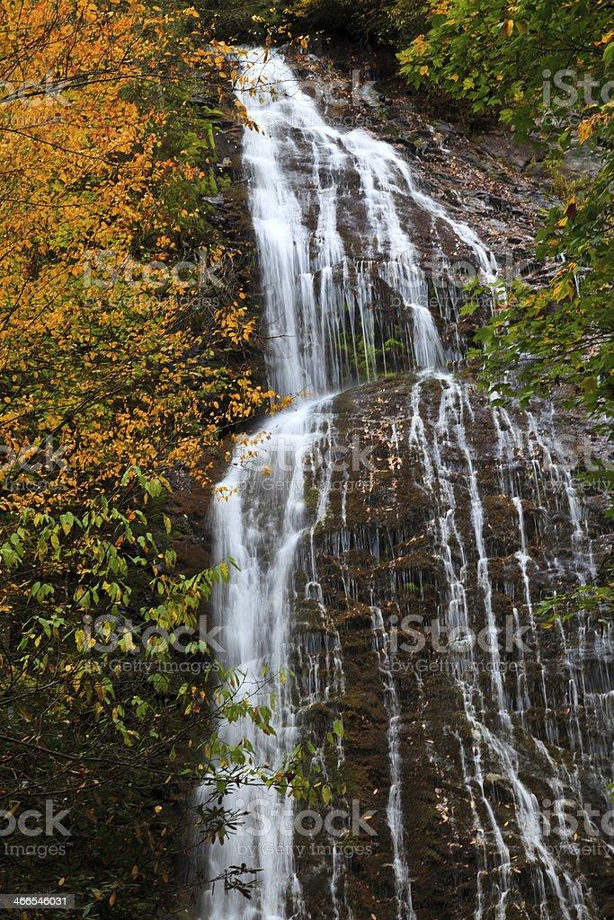 Waterfall in the Fall Season stock photo