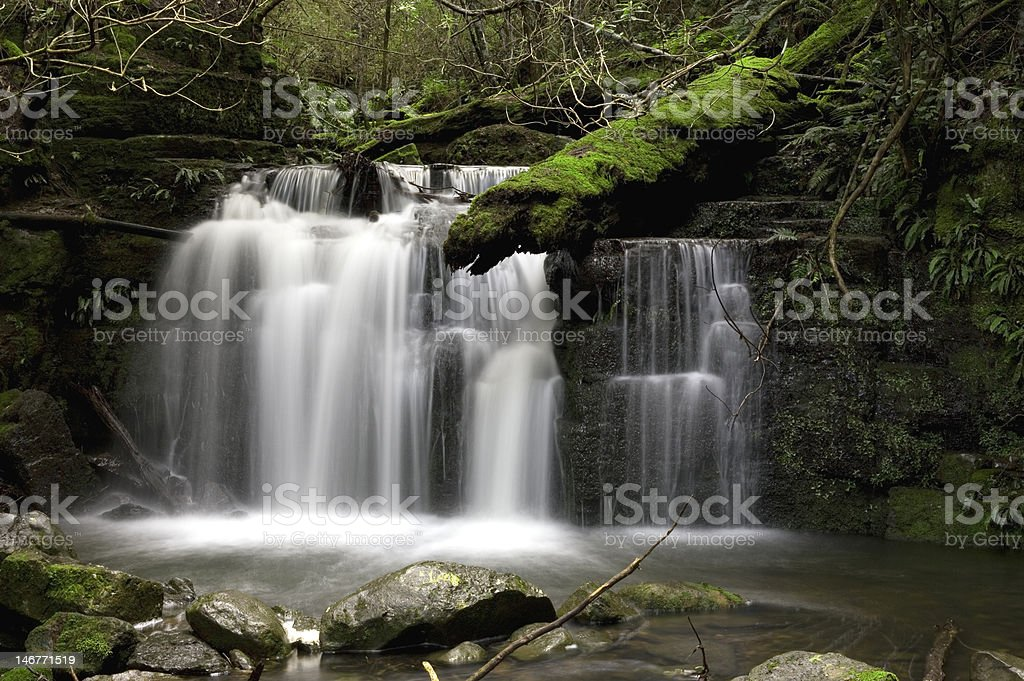 Waterfall in the foothills of Mount Wellington royalty-free stock photo