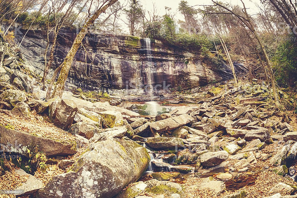 Waterfall in the Great Smoky Mountains royalty-free stock photo