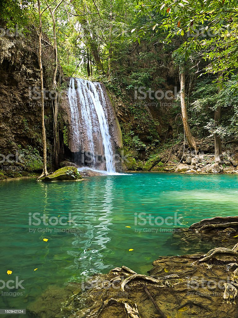 Waterfall in the jungle royalty-free stock photo