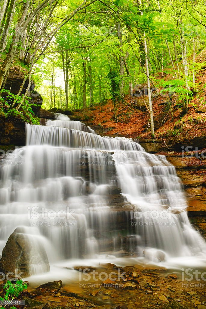 waterfall in the park royalty-free stock photo