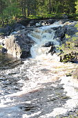 Waterfall in the Republic of Karelia