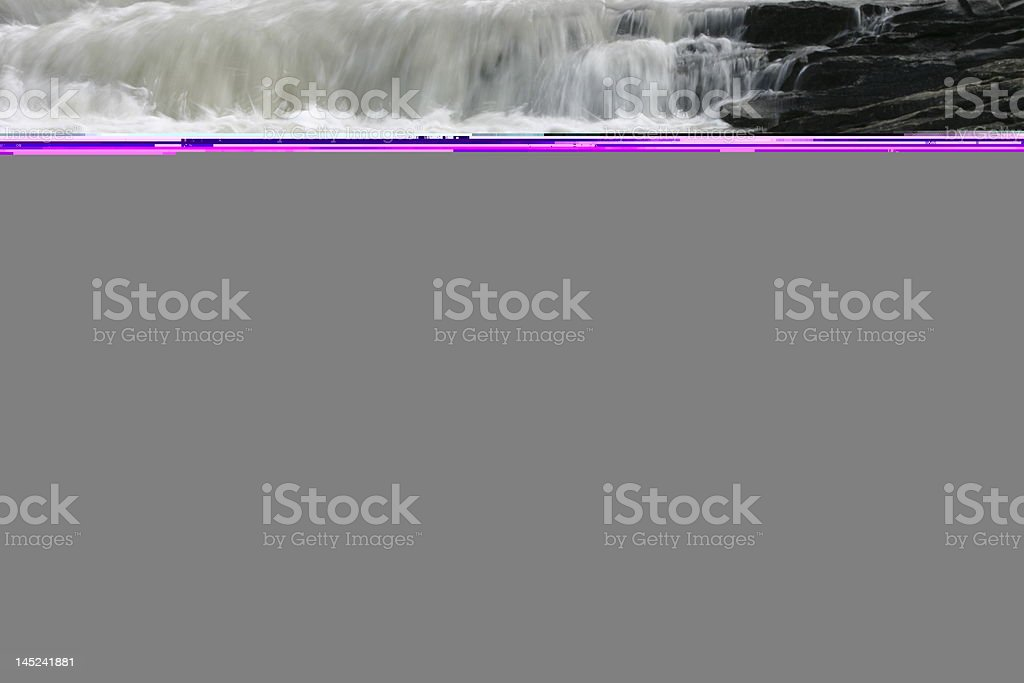 Waterfall in the Rocky Mountains royalty-free stock photo
