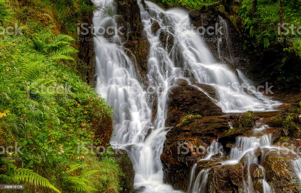 Waterfall in the Scottish Highlands royalty-free stock photo
