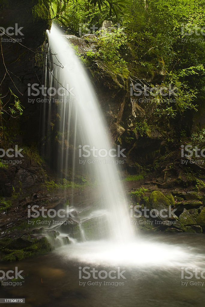 Waterfall in the Smoky Mountains stock photo