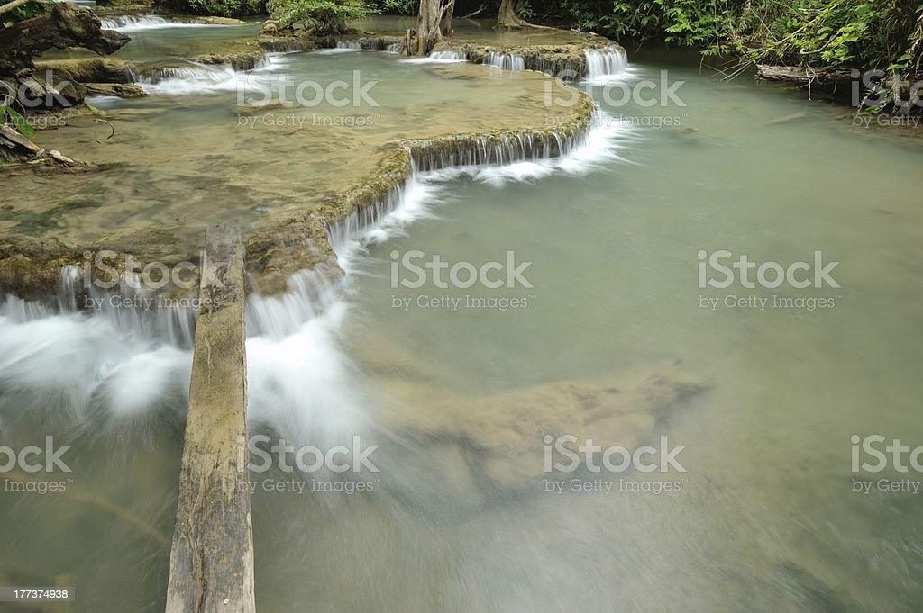 Waterfall in the valley royalty-free stock photo