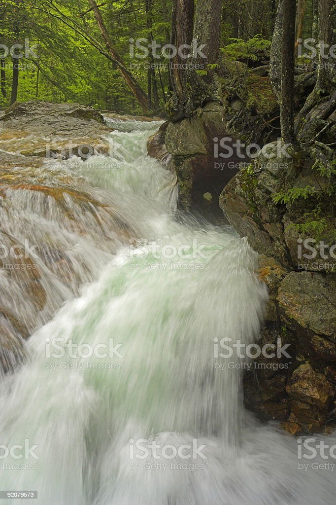 waterfall in the white mountains stock photo
