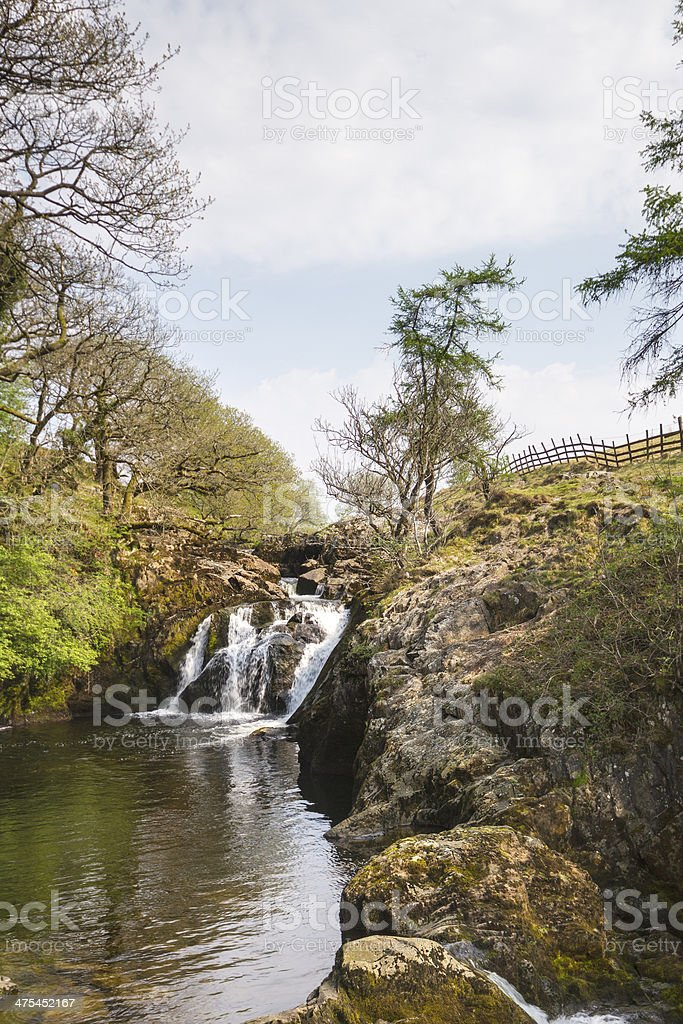 Waterfall in the Yorkshire dales stock photo