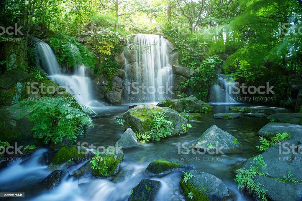 Waterfall in Tokyo stock photo