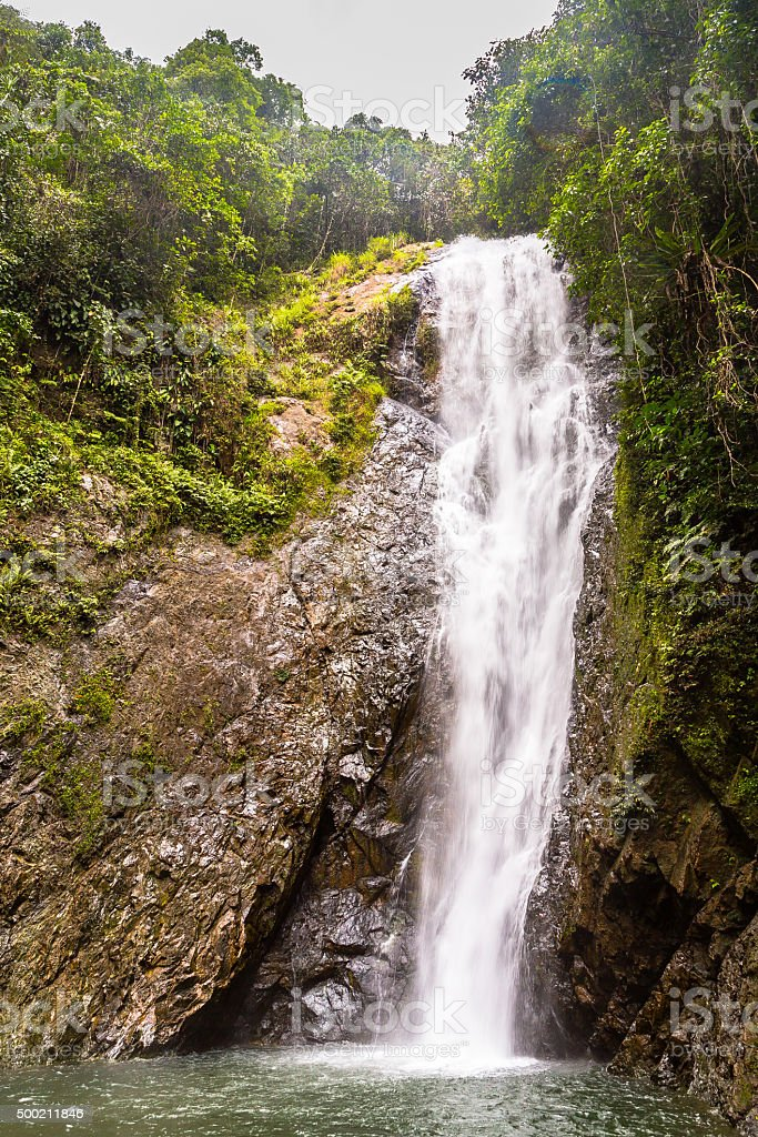 Waterfall in Viti Levu stock photo
