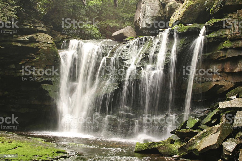 Waterfall in West Virginia stock photo