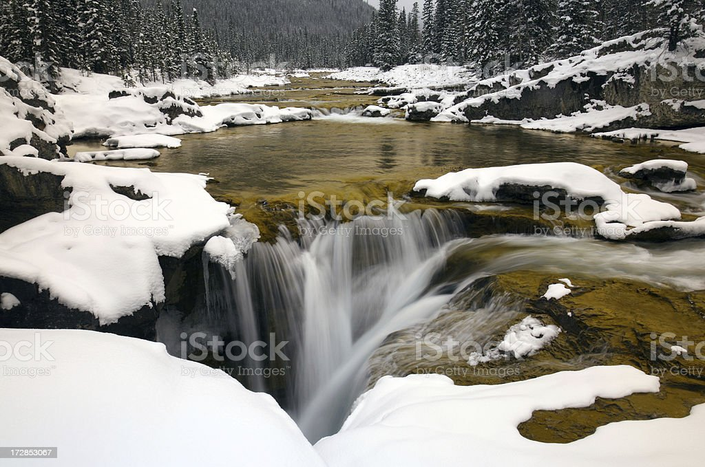Waterfall in Winter royalty-free stock photo