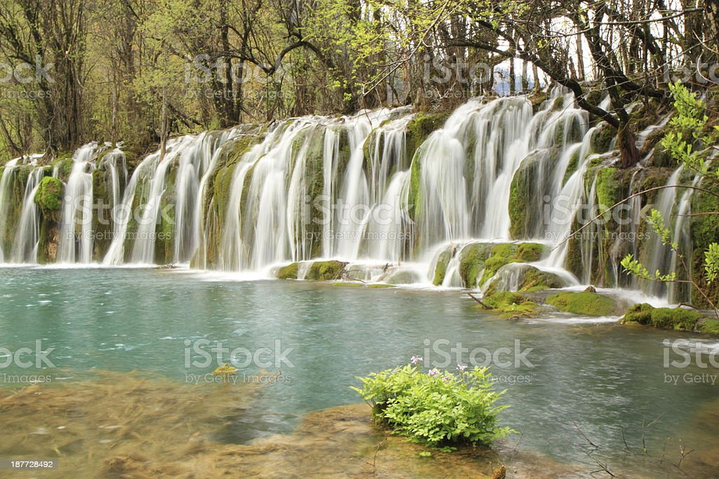 Waterfall Jiuzhaigou stock photo