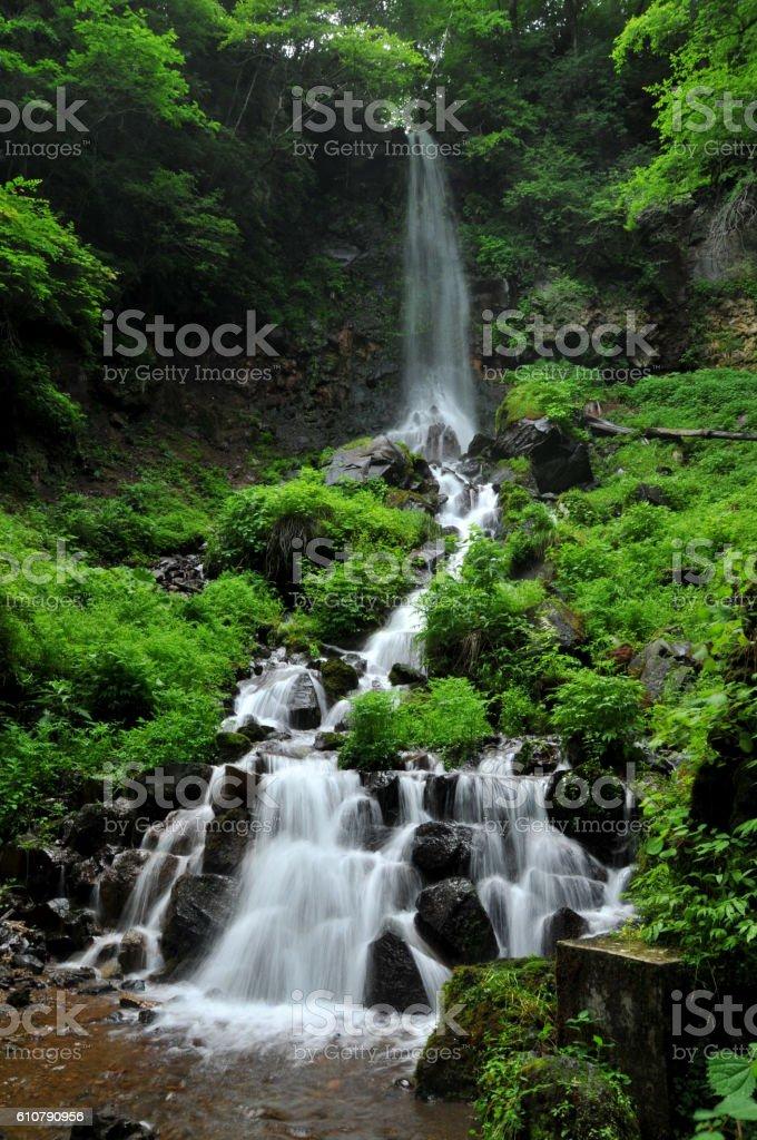 waterfall Karuizawa Japan stock photo