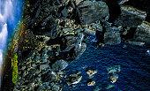 waterfall kilt rock isle of skye scotland UK