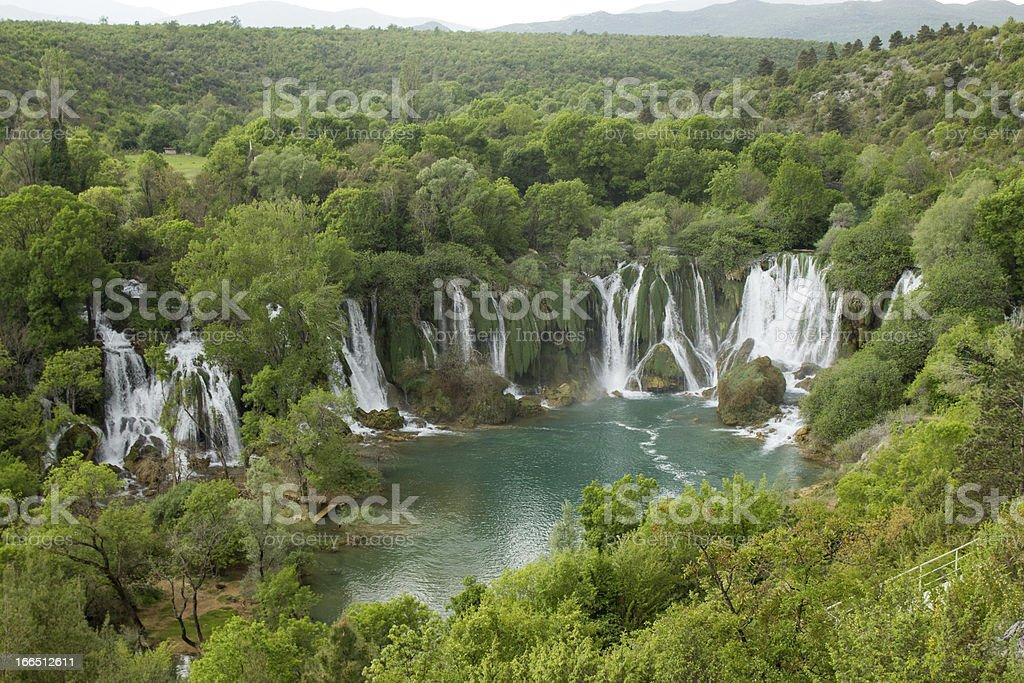 Waterfall Kravice in Bosnia and Herzegovina stock photo