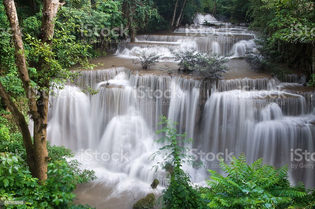 Waterfall located in deep forest of Thailand. royalty-free stock photo