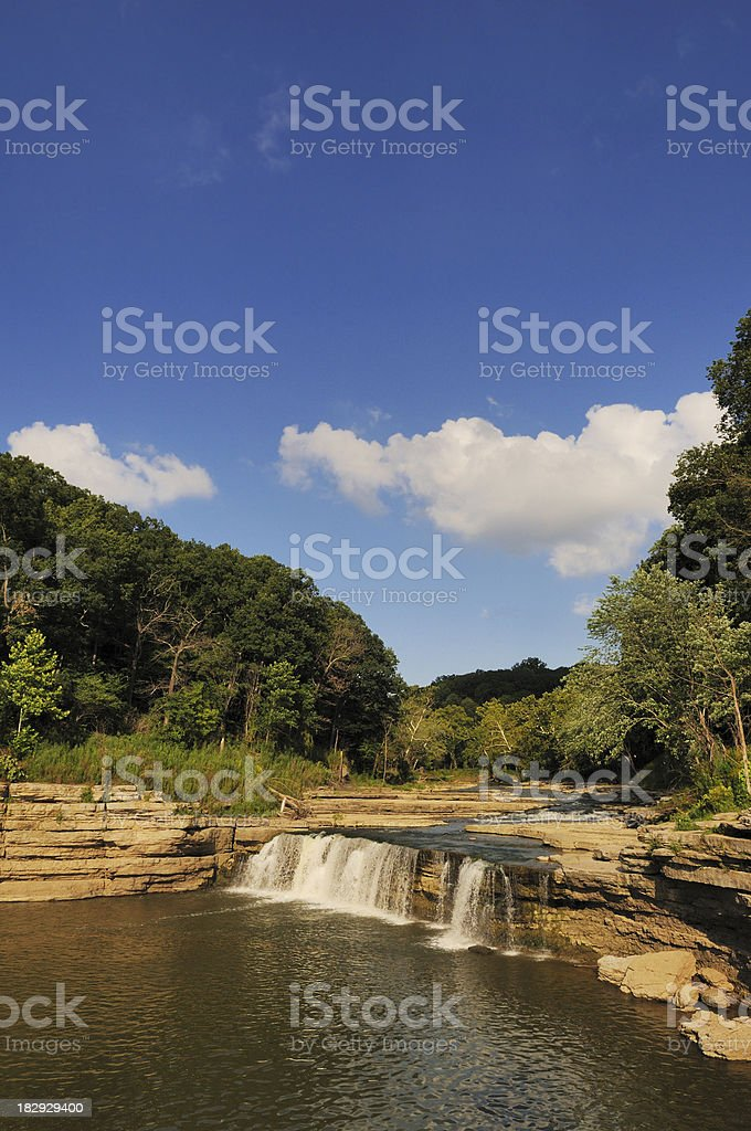 Waterfall Lower Cataract Falls State Park Central Indiana Landmark stock photo