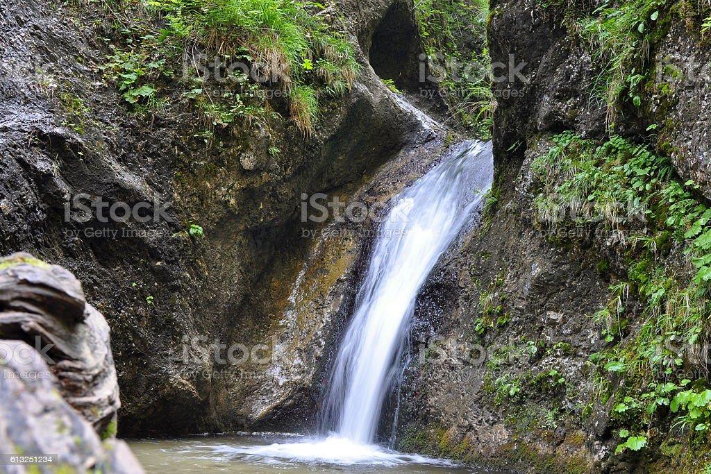 waterfall, Mala Fatra nature rewserve stock photo