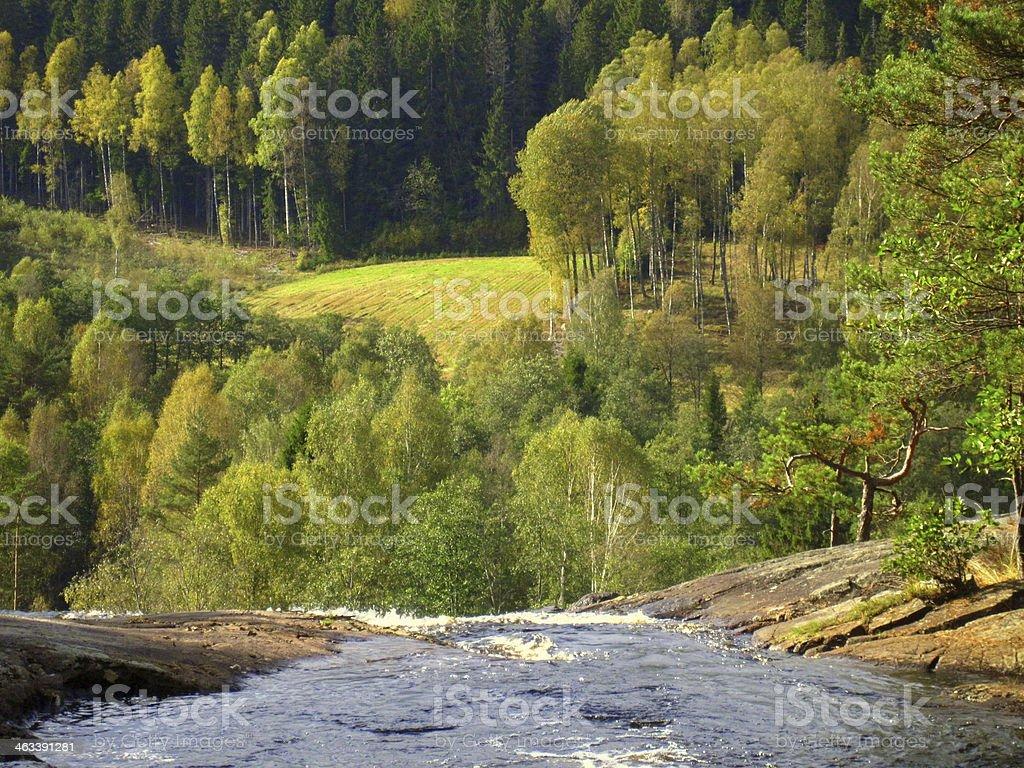 Cachoeira perto de halden foto royalty-free