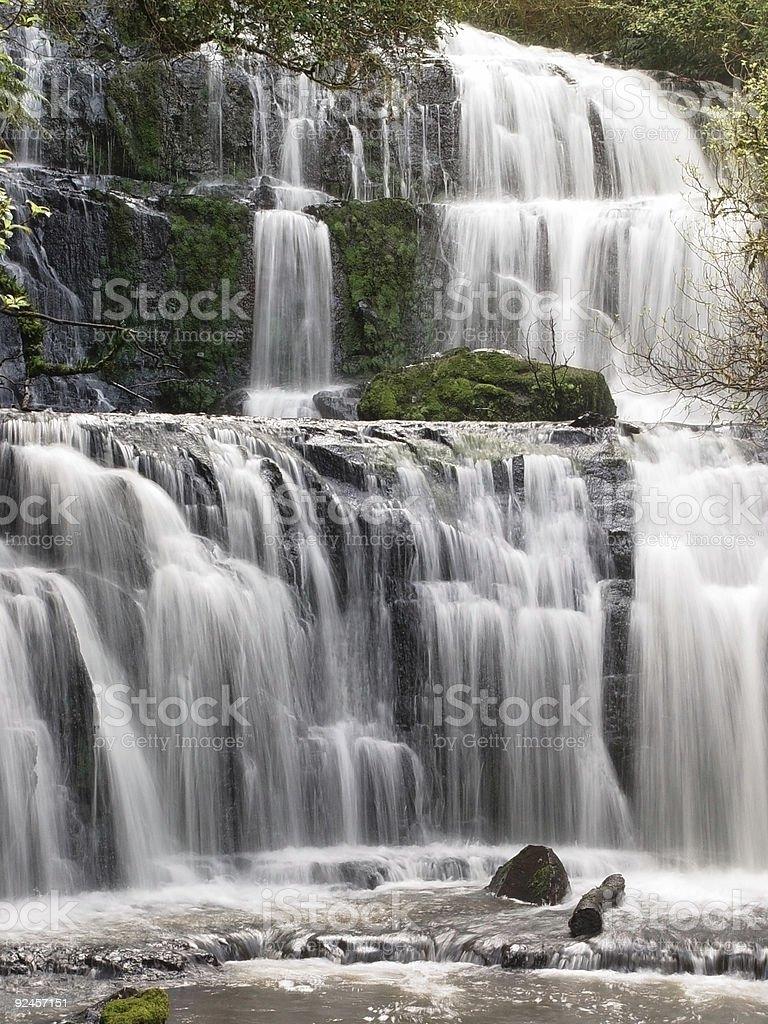 waterfall, new zealand stock photo