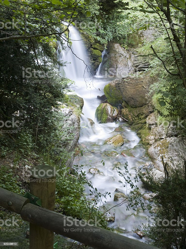 Waterfall of a river. Ideal for nature funds. Motion royalty-free stock photo