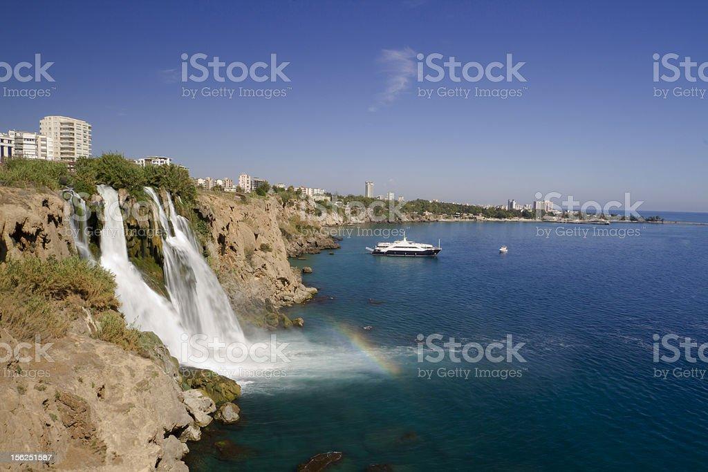 Waterfall of Karpuzkaldiran royalty-free stock photo
