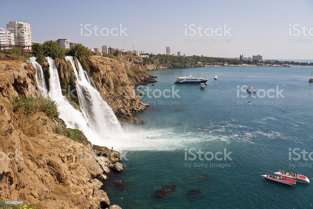 Waterfall of Karpuzkaldiran stock photo