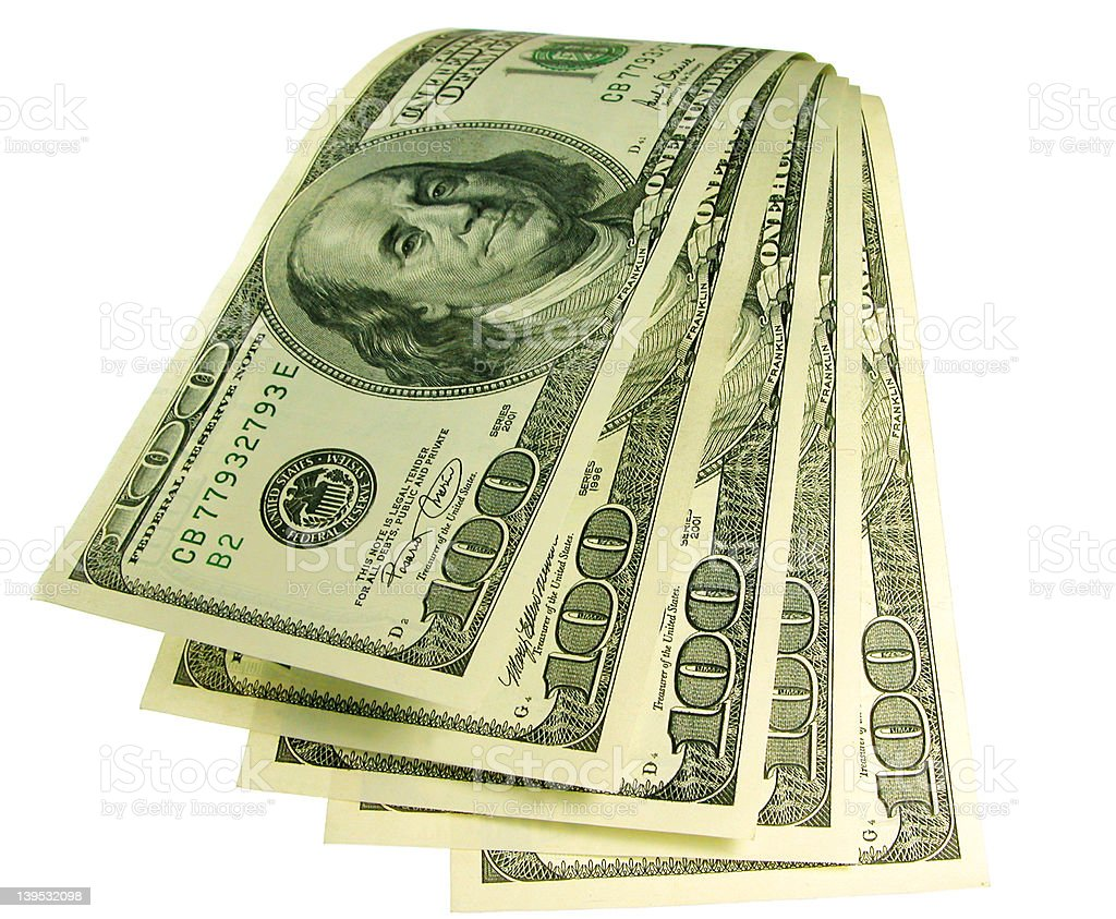 Waterfall of money royalty-free stock photo