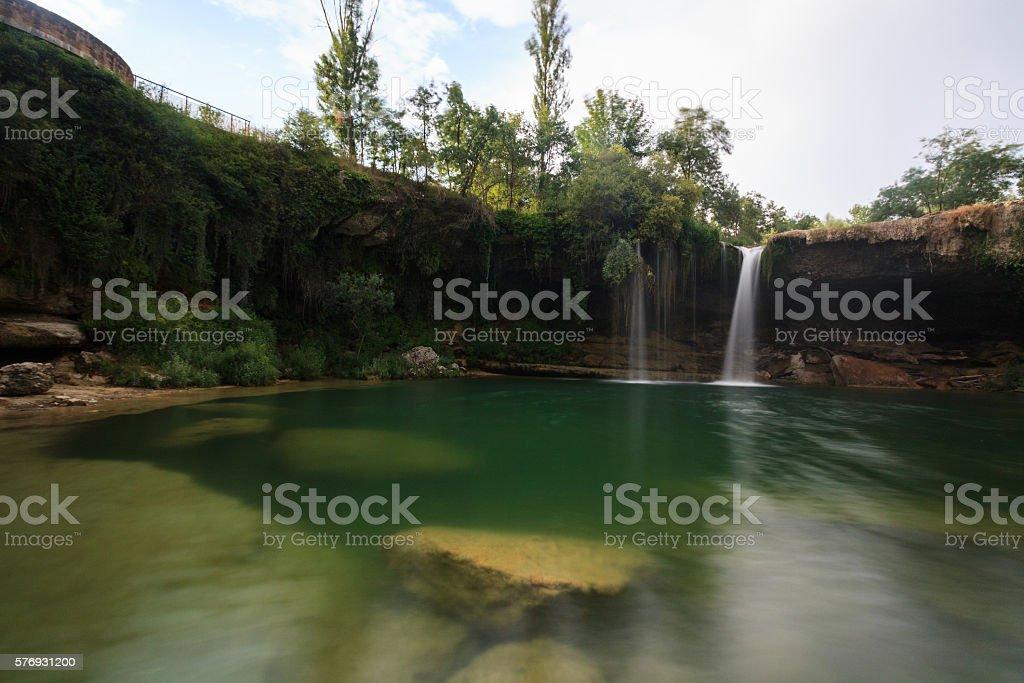 Waterfall of Pedrosa de Tobalina, Burgos, Spain stock photo