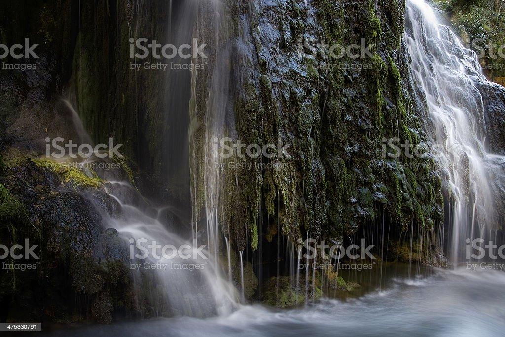 Waterfall of the Monasterio de Piedra, Nuevalos, Zaragoza, Spain stock photo