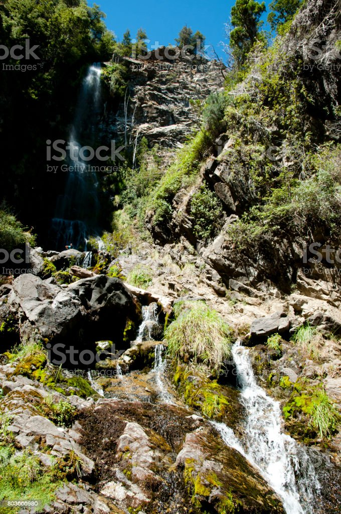 Waterfall of the Virgin - El Bolson - Argentina stock photo