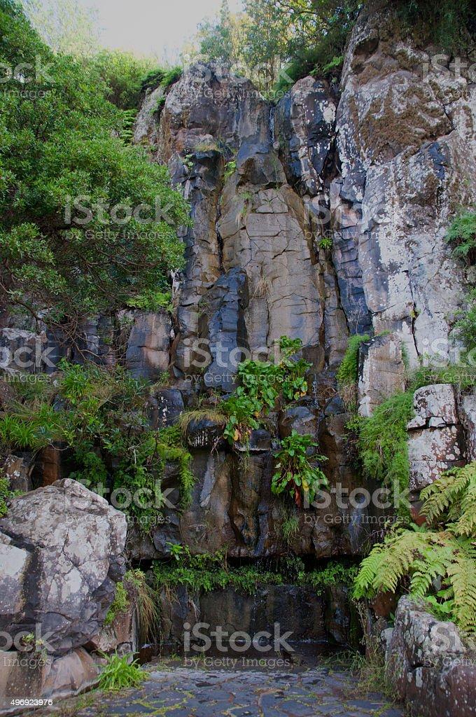 Waterfall of Wisdom in Gran Canaria stock photo