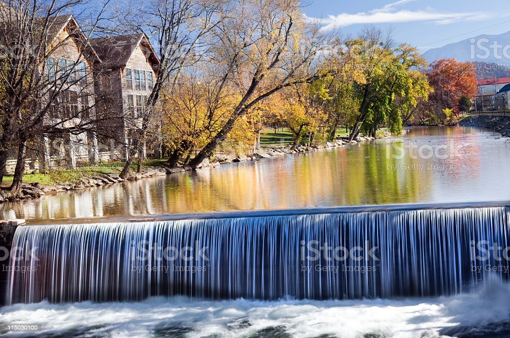 Waterfall old mill area Tennesee royalty-free stock photo