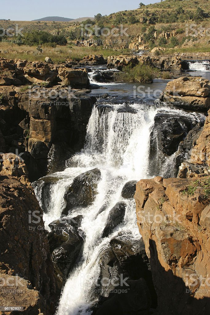 Waterfall on Blyde River stock photo