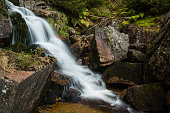 Waterfall on Jedlova creek in Jizera mountains