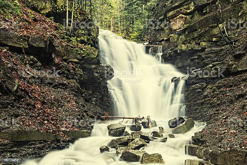 Waterfall on Mosorny Stream royalty-free stock photo