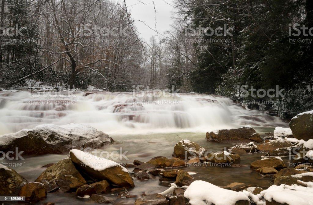 Waterfall on Muddy Creek near Albright WV stock photo