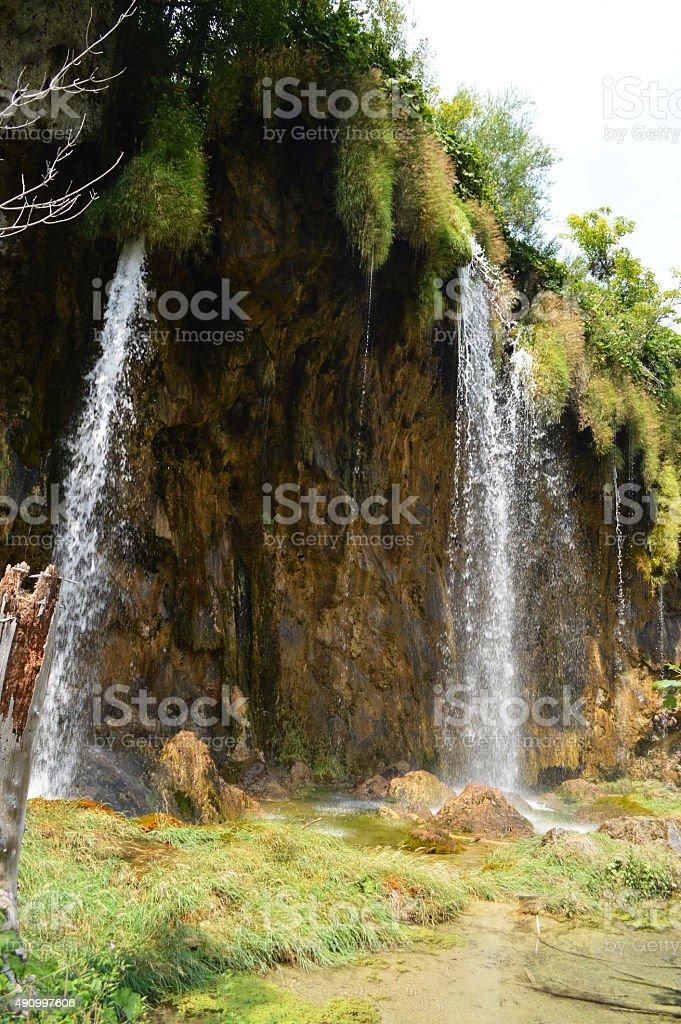 Cascada en parque de plitvice foto de stock libre de derechos