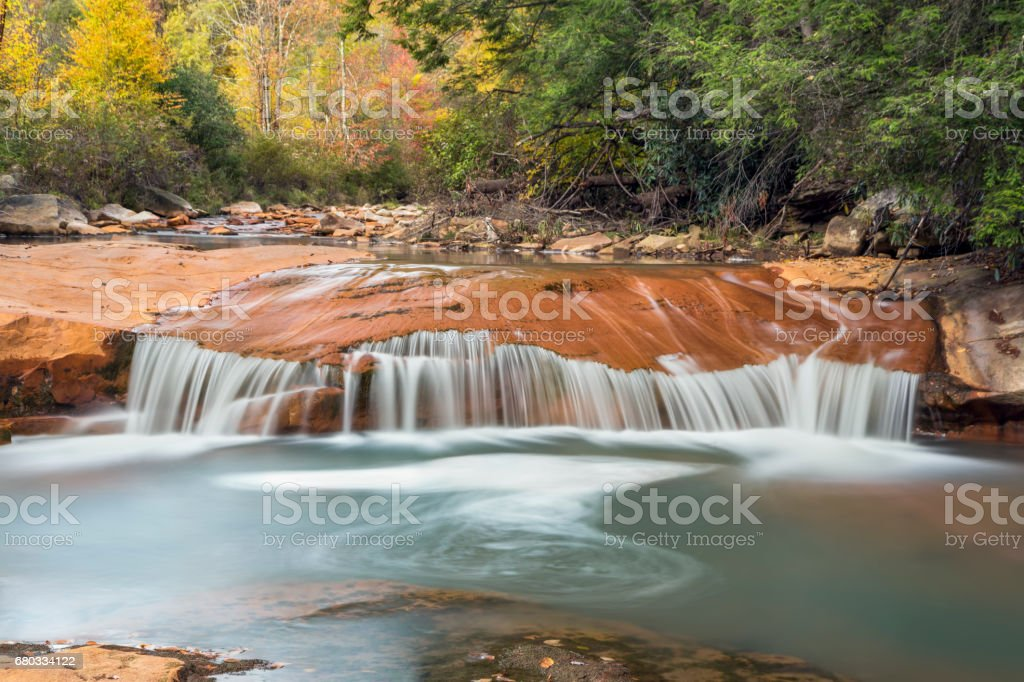 Waterfall on the North Branch of the Blackwater River stock photo