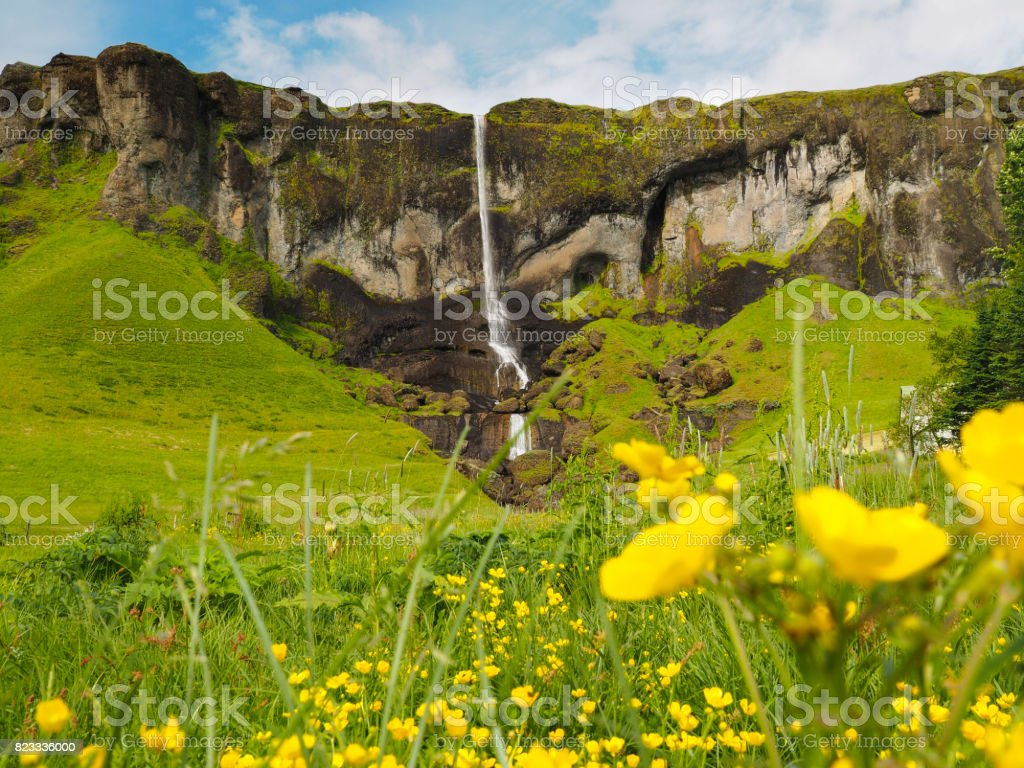 Waterfall on the South Coast stock photo