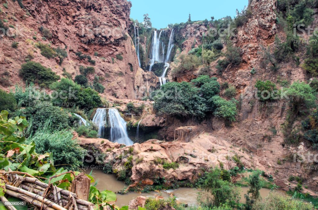 Waterfall Ouzoud in Morocco stock photo