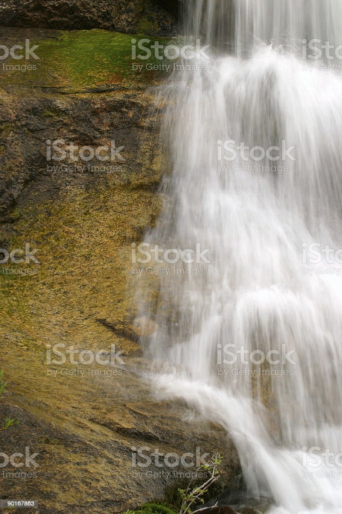 Waterfall Over Granite royalty-free stock photo
