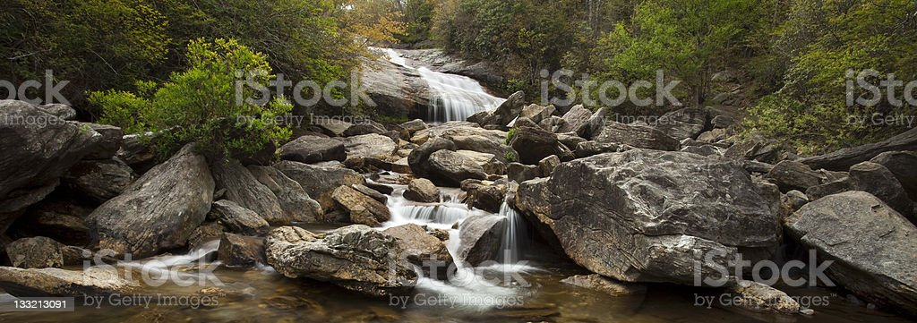 Waterfall Panorama royalty-free stock photo
