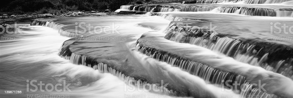 Waterfall panorama royalty-free stock photo