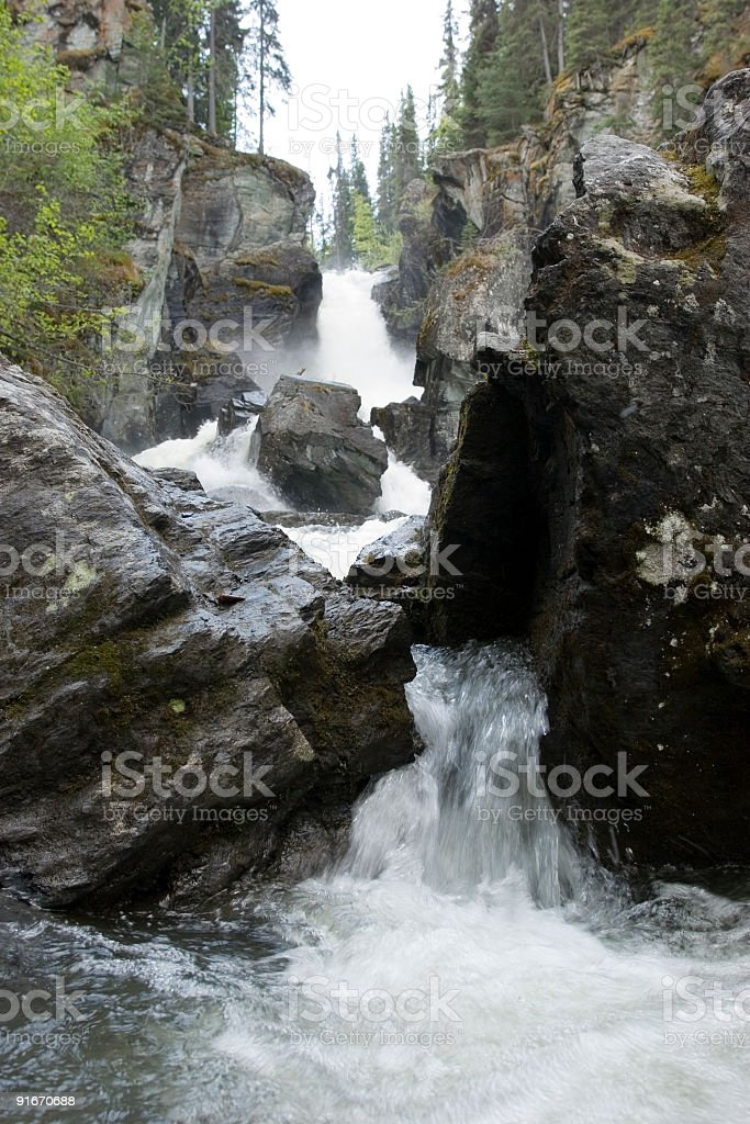 Waterfall perspective royalty-free stock photo