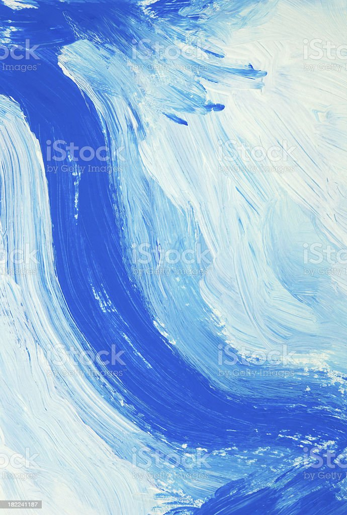 Waterfall (tempera painting abstract background) royalty-free stock photo